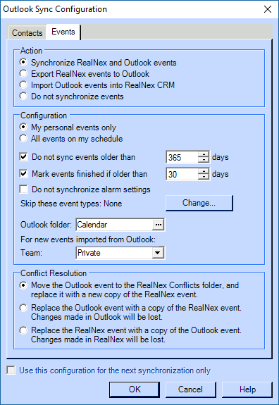 Synchronizing your RealNex CRM Desktop with Outlook – RealNex