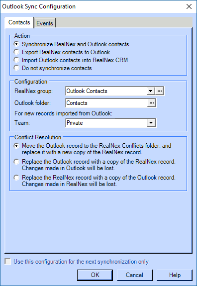 Synchronizing your RealNex CRM Desktop with Outlook